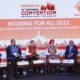 Mos (independent Charge) Hardeep Singh Puri, SBI Managing Director P.K Gupta on panel with NAREDCO leadership Rajeev Talwar, Parveen Jain, Niranjan Hiranandani & Gaurav Jain at 15th National Convention